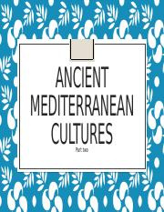 3 Classical cultures on the Mediterranean