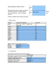 MEASUREMENT REPORT SHEET- COMPLETED
