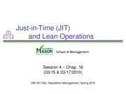 Session 4 - JIT and Lean Operations