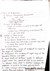 Physics laws of reflection