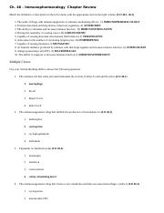 Pharmacology - Ch 46 - Chapter Review w Answers