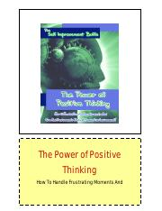 2 - The Power of Positive Thinking