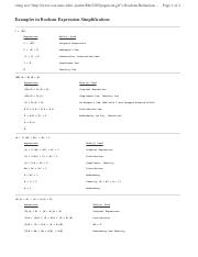 T3-2 Boolean Examples