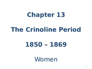 Chapter 13 - Crinoline - Women - students