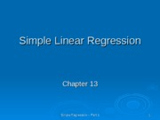 simple regression ppt