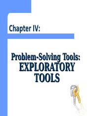 Chapter IV Problem Solving Tools.ppt