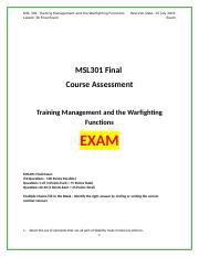 MSL301L36_Final_Exam Answers.docx