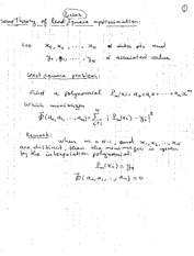 Some theory of least linear square approximation