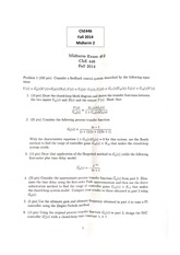 CHE 446 Fall 2014 Midterm 2 Solutions