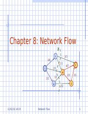 Chapter 8 Network Flows.ppt