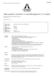 SB289B_Real property valuation in land management