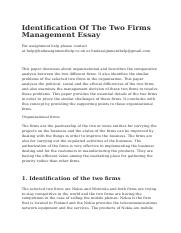 Identification Of The Two Firms Management Essay