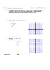 Worksheet Linear Programming Worksheet linear programming worksheet key 5 pages systems and chapter review
