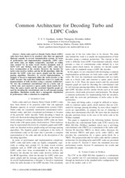 Common Architecture for Decoding Turbo and LDPC Codes