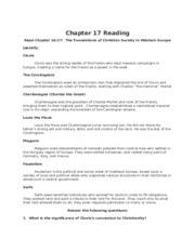 Chapter 16 Reading