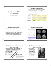 consciousness and two track mind outline Thinking critically with psychological science 47 chapter 2 the biology of mind 85 chapter 3 consciousness and the two-track mind 133 chapter 4 nature, nurture, and human diversity 173 chapter 5 developing through the life span 229 chapter 6 sensation and perception 291 chapter 7.