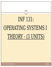 OPERATING SYSTEM 1