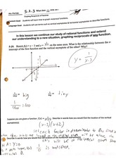 Reciprocal Functions Worksheet