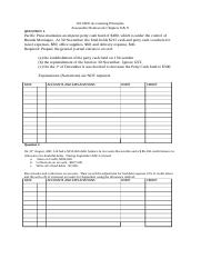 1101AFE Accounting Principles Chapter 8&9 Questions