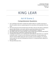 king lear act 3 questions King lear: blow, winds, and crack your cheeks rage blow you cataracts and  hurricanoes, spout till you have drenched our steeples,.