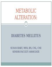 SHU ADULTS I Diabetes Mellitus  updated FALL 2015