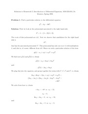 Homework E Solutions on Introduction to Differential Equations