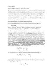 Lecture 3 Notes Orbital Mechanics