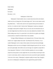 research paper shakespeare