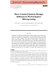 Rinsum 2013-How control system design influences performance misreporting