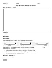 9th Physics CH 8 Levers worksheet Work - MA student handout.docx