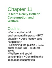 Econ 277(notes)Ch-11 consumption and welfare