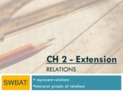 ch2 ext - relations