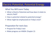 Class 042 - Electric Potential & Review