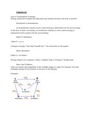 Chapter 10 Chemistry Review