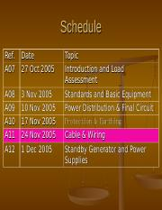 unformatted text preview: schedule ref  a07 date 27 oct 2005 a08 a09 a10  a11 a12 3 nov 2005 10 nov 2005 17 nov 2005 24 nov 2005 1 dec 2005 topic