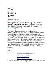 J. Kay Review The Spirit Level (1).doc