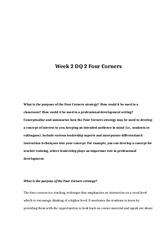 rev Week 2 DQ 2 Four Corners