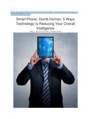 5 Ways Technology Is Reducing Your Overall Intelligence .docx