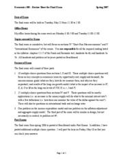 Review sheet for final exam