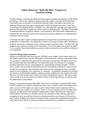 Foothill College Case Study