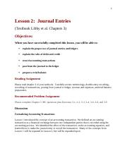 Lesson 2.  Chapter 3.  Journal Entries and Prepare Trial Balance.docx