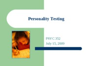Personality Assessment POST