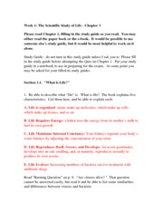 Study Guide Week #1 Chapter 1 (1)
