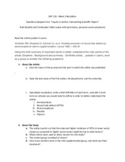 Option B - student group questions (digestive system - journal article)