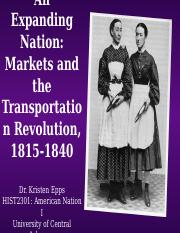 HIST2301, Market Revolution (2015 version)