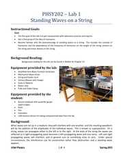 1 - Standing Waves on a String