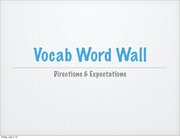 Vocab Word Wall Directions
