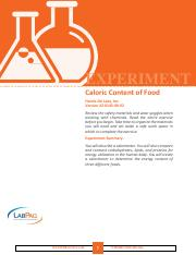 EXP Caloric Content of Food