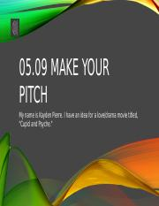05.09 Make Your Pitch