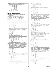 Pre-Calculus Homework Solutions 91